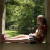 Young girl in a window, Bloomington, Indiana 2008