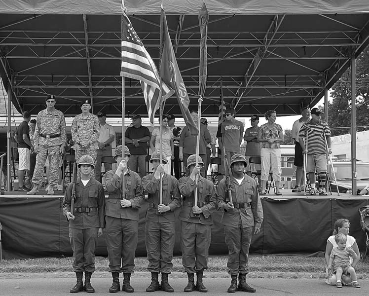 Reviewing stand, July 4, 2010, Junction City, Kansas
