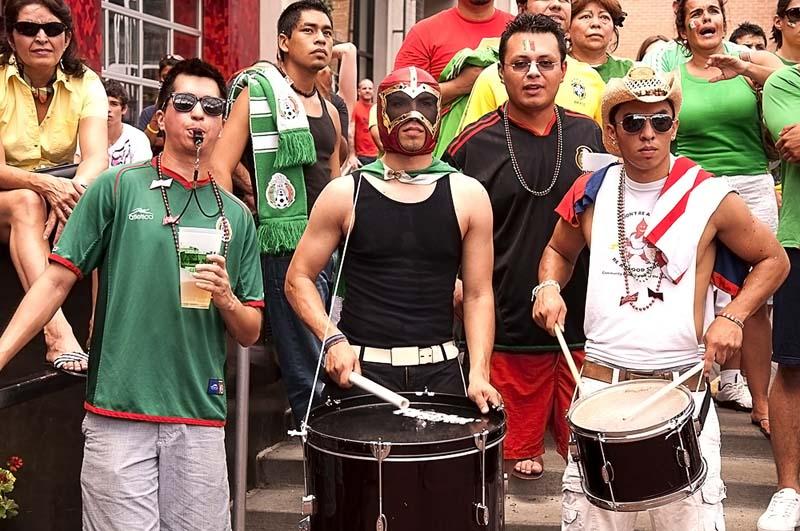 World Cup soccer fans, Kansas City, July 2010