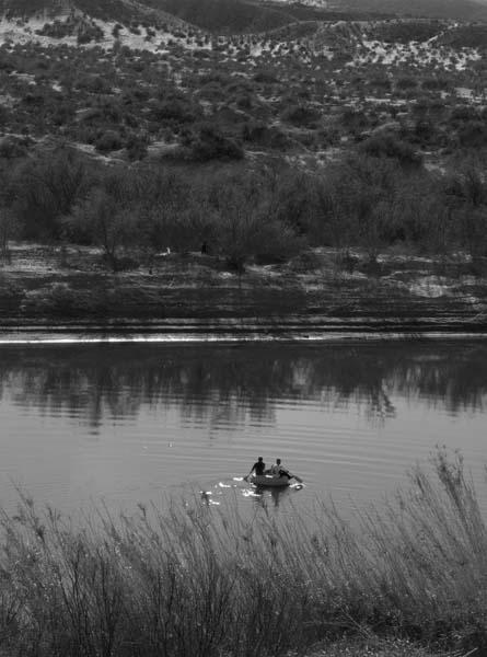 Crossing the Rio Grande back to Boquillas, Mexico, December 2008