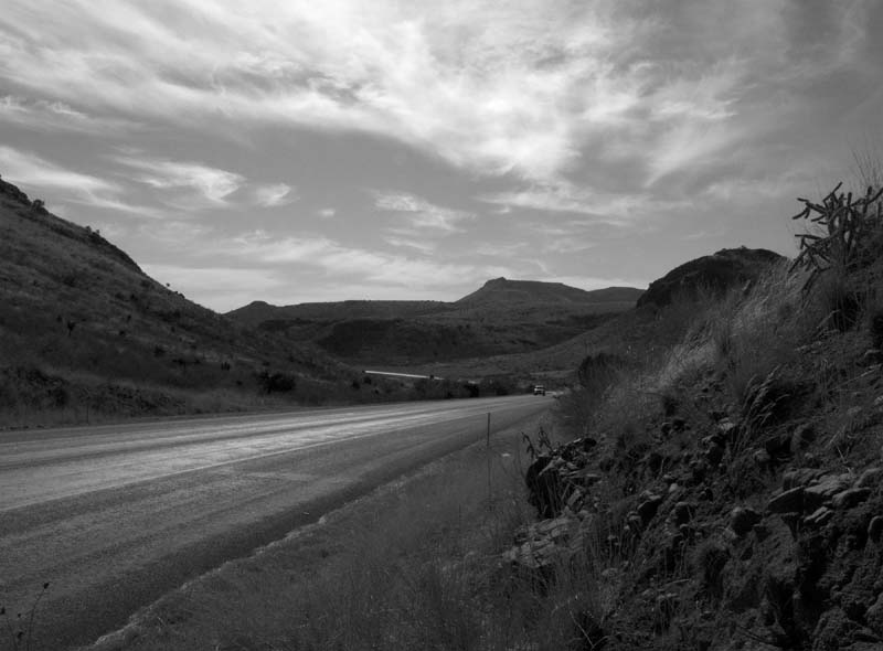 Wild Rose Pass, West Texas. December 2009