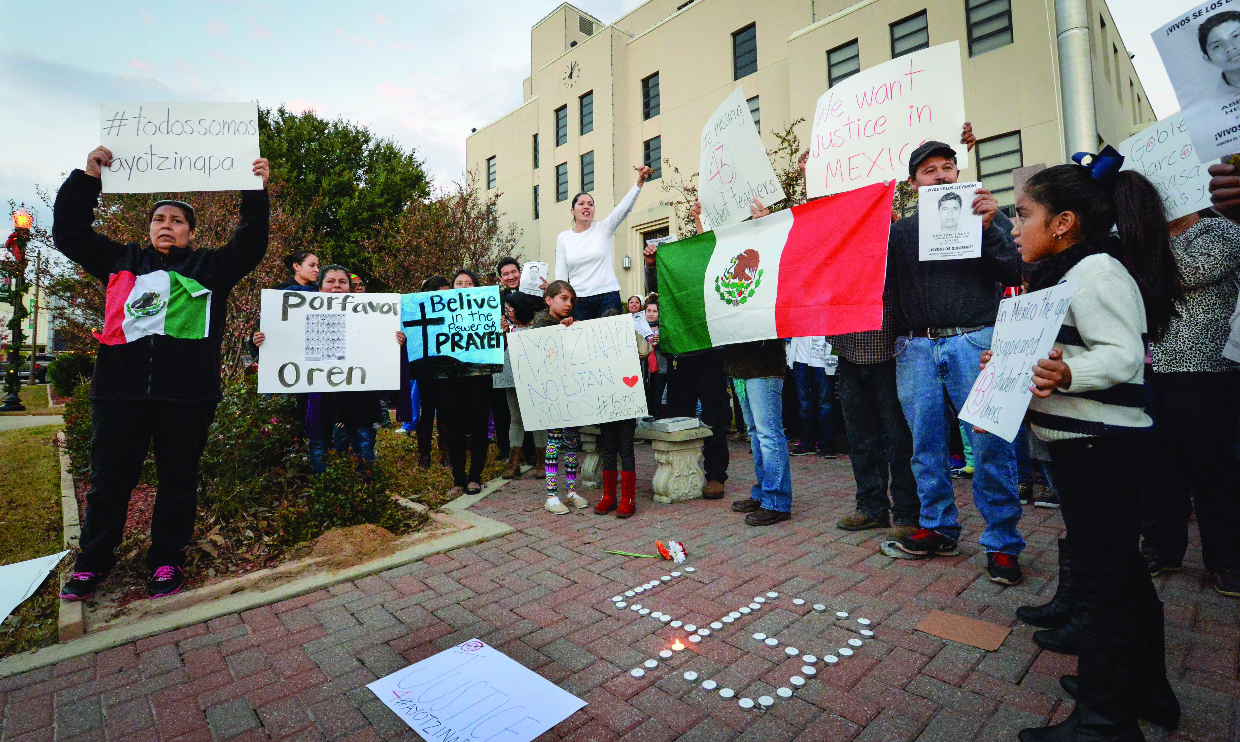 Ayotzinapa student rally, Mount Pleasant, December 2014