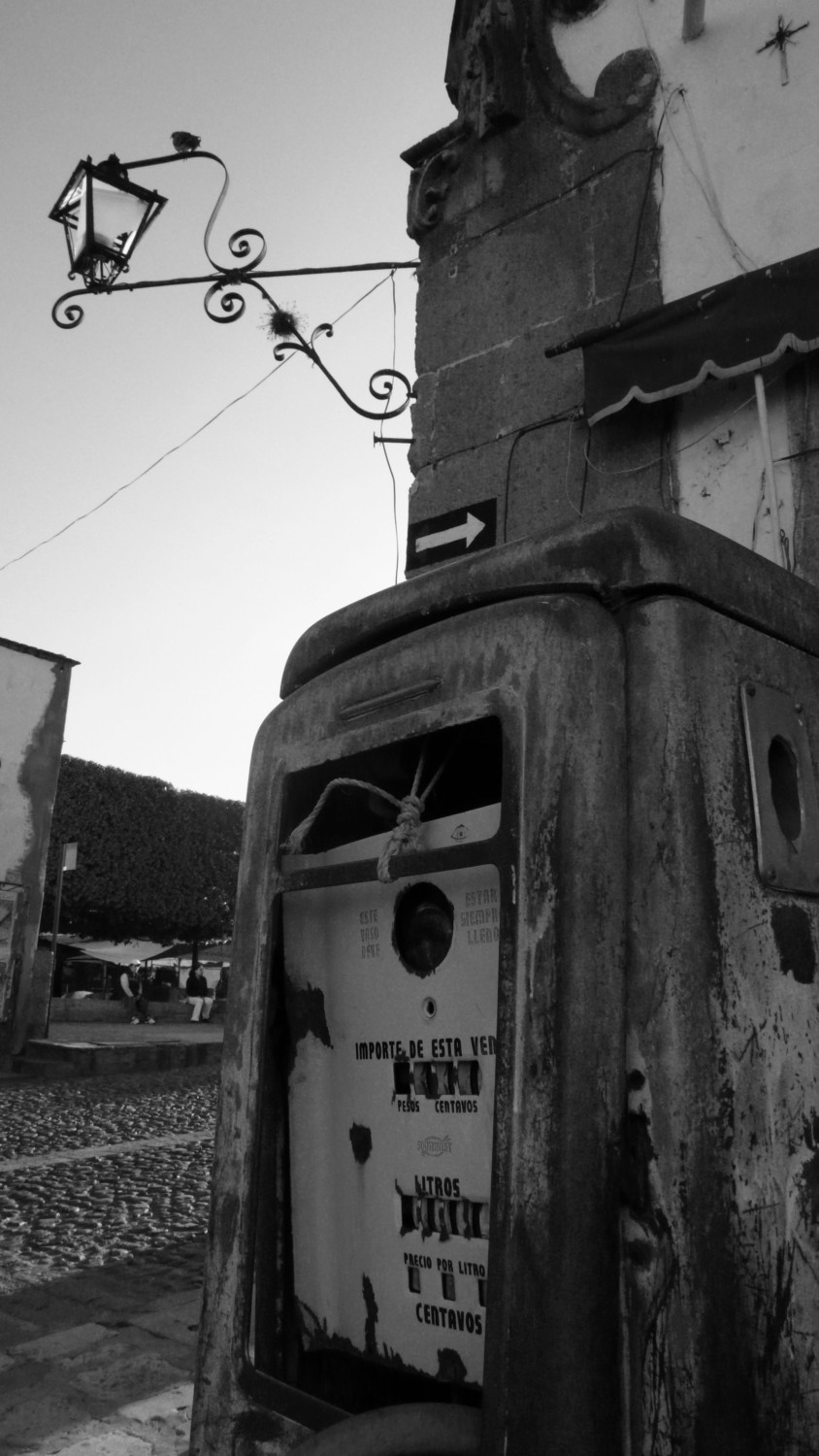 Gas pump, Gruene, Texas, January 2012