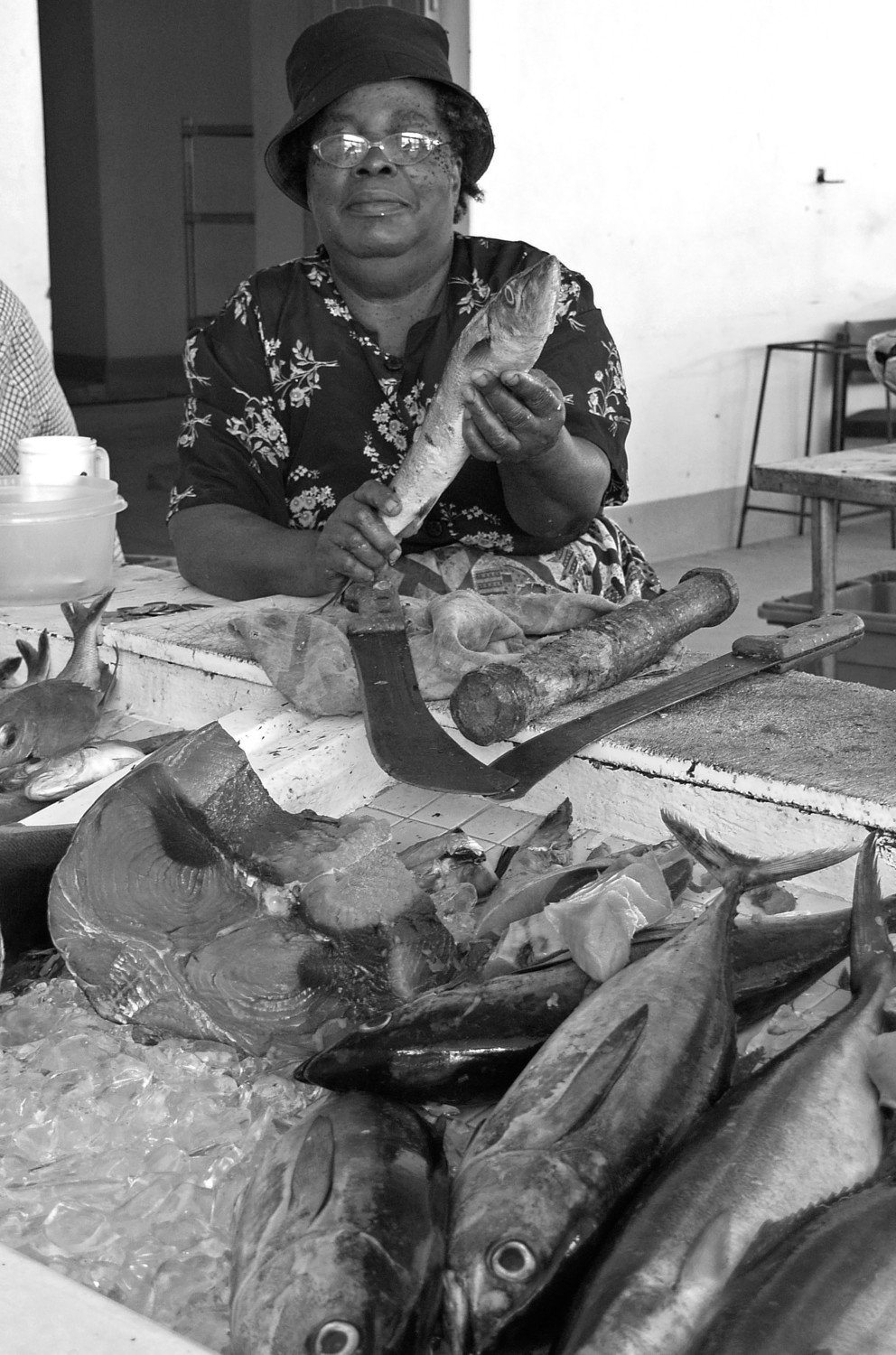 Fish lady, Grenada, May 2006
