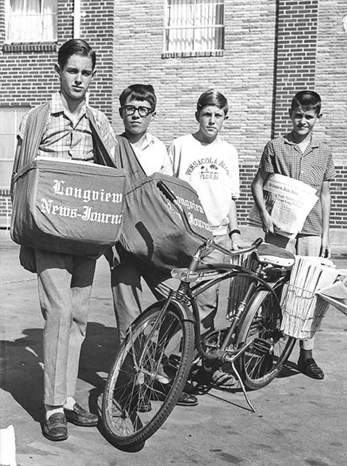 Paperboys, 1968, Longview, Texas. I'm the second kid from the left.